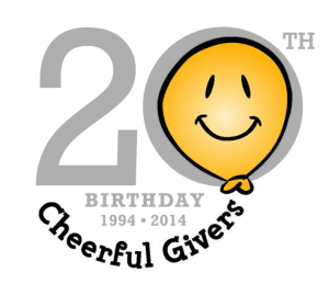 CheerfulGivers 20th B-Day