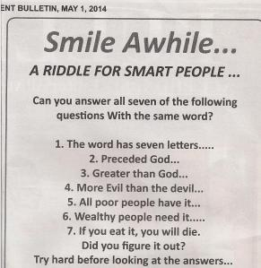 Riddle for smart people