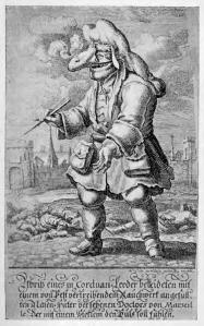 Johann_Melchior_Füssli_(1677–1736),_Sketch_of_a_Cordovan-leather-clad_doctor_of_Marseilles