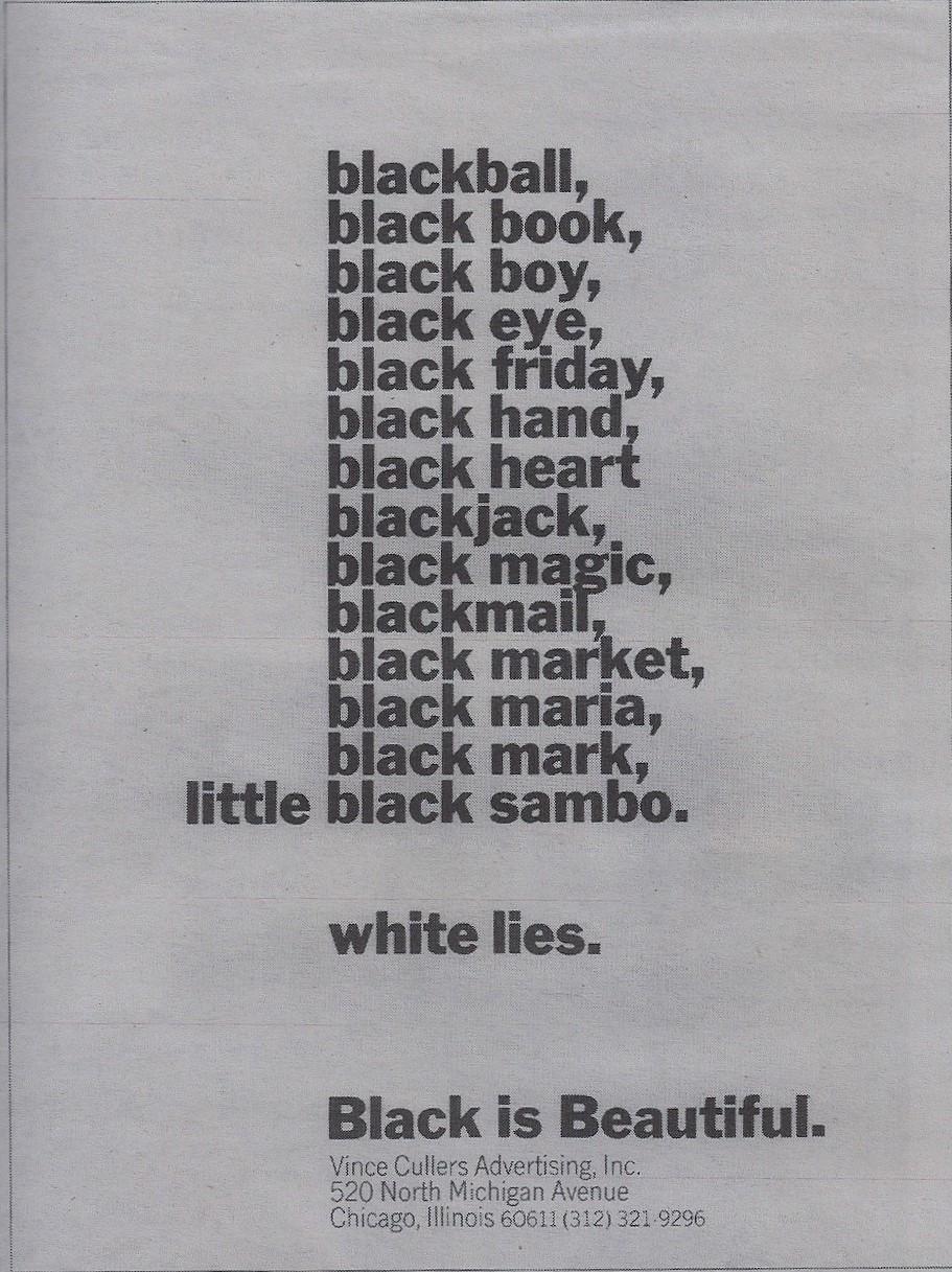 Black Is Beautiful.